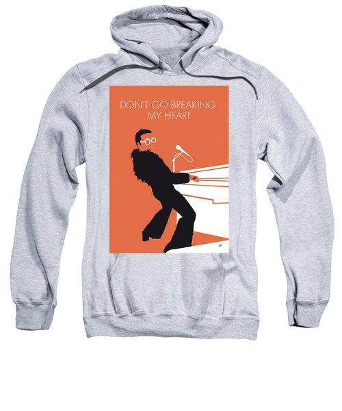 No053 My Elton John Minimal Music Poster Sweatshirt by Chungkong Art