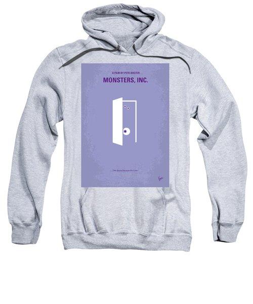 No161 My Monster Inc Minimal Movie Poster Sweatshirt by Chungkong Art