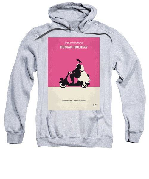 No205 My Roman Holiday Minimal Movie Poster Sweatshirt by Chungkong Art