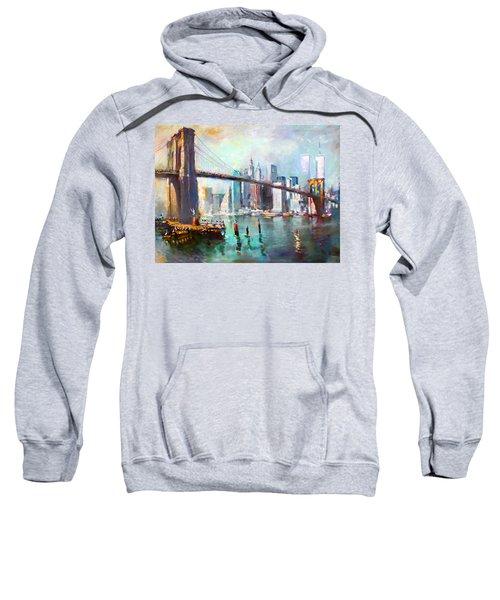 Ny City Brooklyn Bridge II Sweatshirt by Ylli Haruni