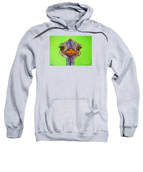 O For Ostrich Sweatshirt by Ella Kaye Dickey