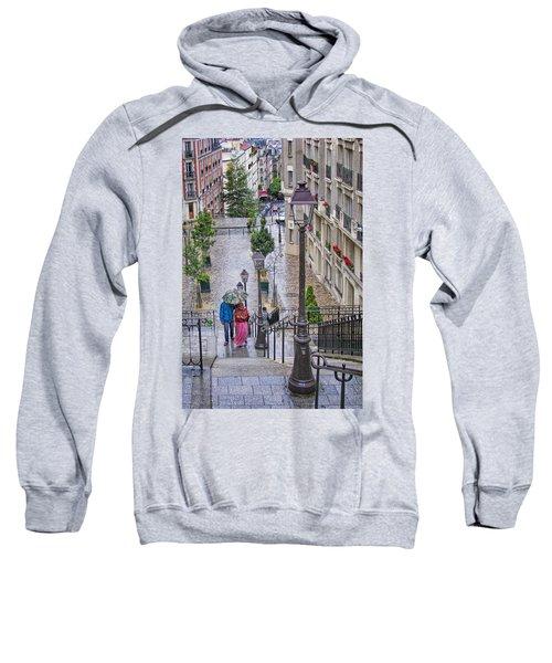 Paris Sous La Pluie Sweatshirt by Nikolyn McDonald