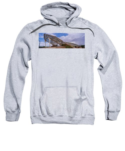 Pedestrian Bridge Over A River, Snake Sweatshirt by Panoramic Images