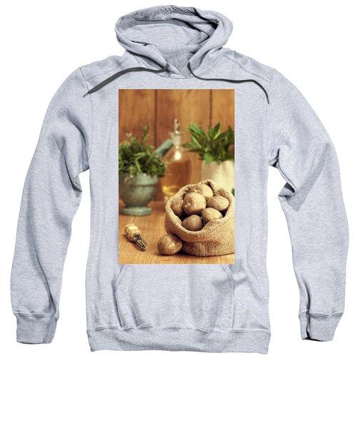Potatoes Sweatshirt by Amanda Elwell