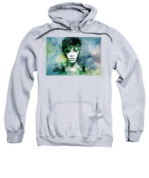 Rihanna 4 Sweatshirt by Bekim Art