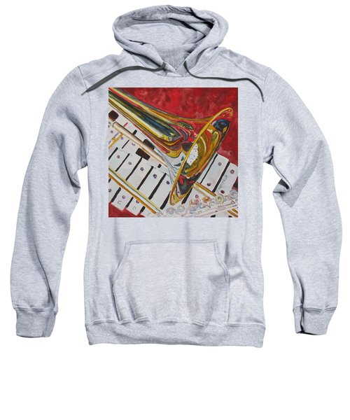 Ringing In The Brass Sweatshirt by Jenny Armitage