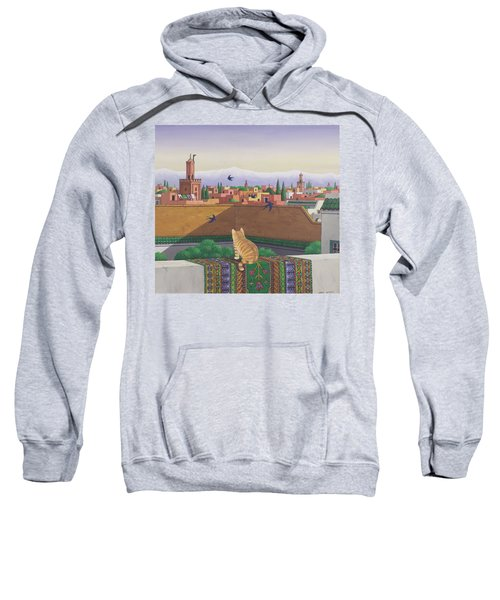 Rooftops In Marrakesh Sweatshirt by Larry Smart