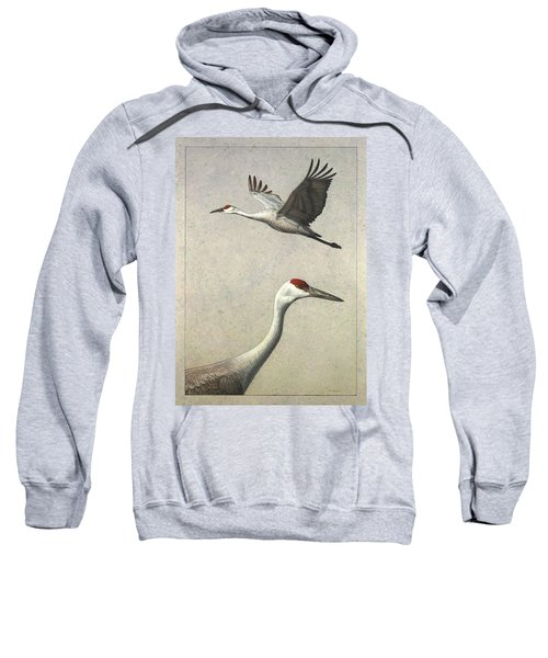 Sandhill Cranes Sweatshirt by James W Johnson