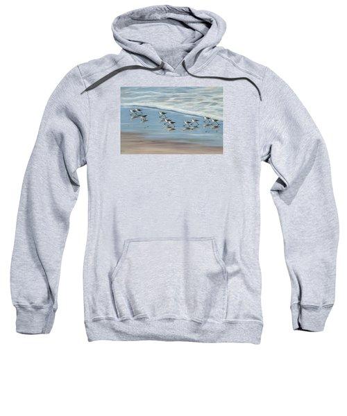 Sandpipers Sweatshirt by Tina Obrien