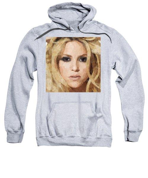 Shakira Portrait Sweatshirt by Samuel Majcen