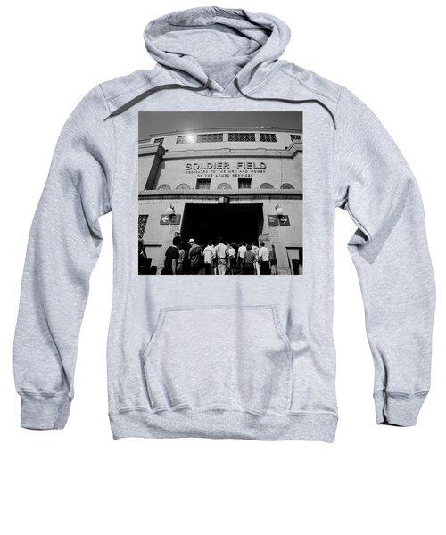 Spectators Entering A Football Stadium Sweatshirt by Panoramic Images
