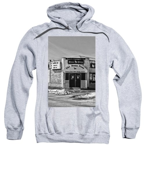 Stone Pony In Black And White Sweatshirt by Paul Ward
