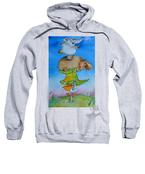 Super Mouse Pen & Ink And Wc On Paper Sweatshirt by Maylee Christie