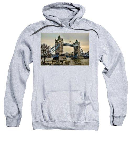 Tower Bridge On The River Thames Sweatshirt by Heather Applegate