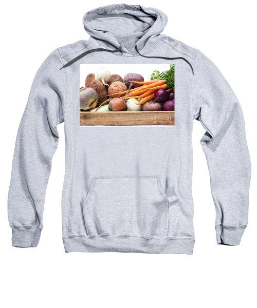 Veg Box Sweatshirt by Anne Gilbert