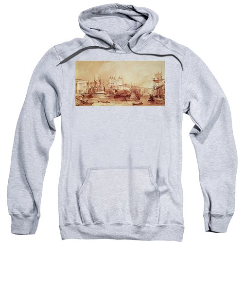 View Of The Tower Of London Sweatshirt by William Parrott