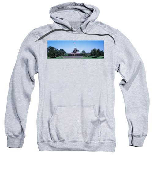 War Memorial With Washington Monument Sweatshirt by Panoramic Images
