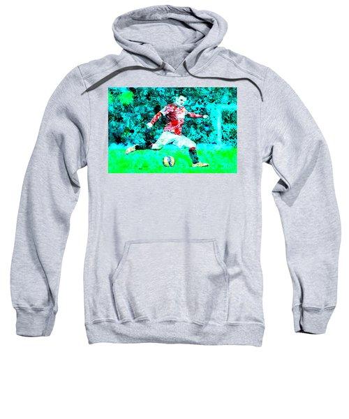 Wayne Rooney Splats Sweatshirt by Brian Reaves