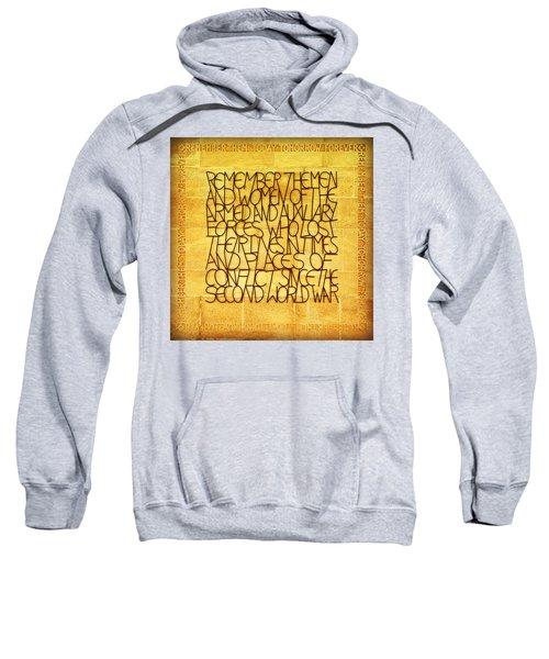 Westminster Military Memorial Sweatshirt by Stephen Stookey