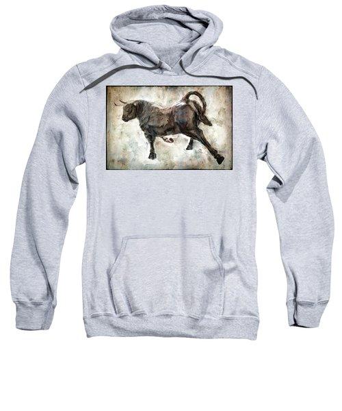 Wild Raging Bull Sweatshirt by Daniel Hagerman