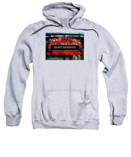 Wrigley Field -- Happy Birthday Sweatshirt by Stephen Stookey