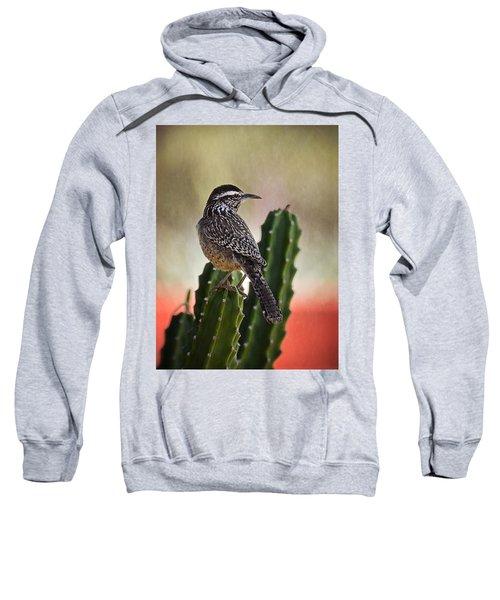 A Cactus Wren  Sweatshirt by Saija  Lehtonen
