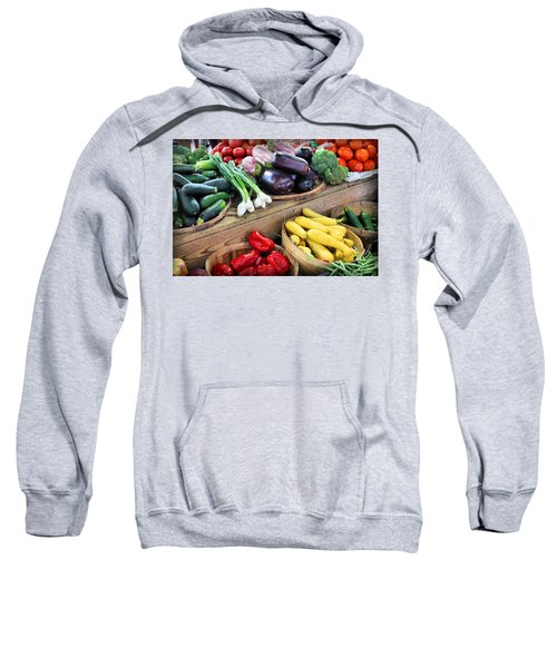 Farmers Market Summer Bounty Sweatshirt by Kristin Elmquist