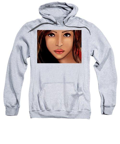 Jessica Alba Version 2 Sweatshirt by Mathieu Lalonde