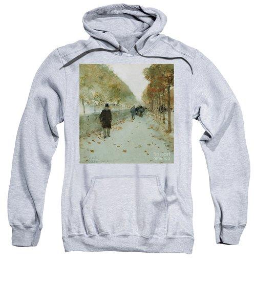 Quai Du Louvre Sweatshirt by Childe Hassam