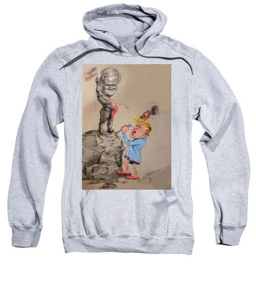 Trump Shaping Up The Future Sweatshirt by Ylli Haruni