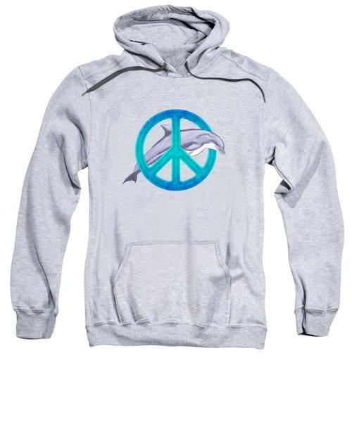 Dolphin Peace Sweatshirt by Chris MacDonald