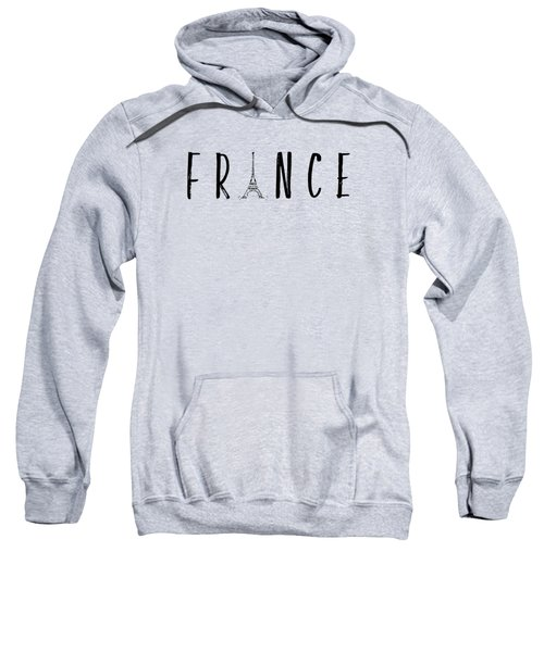 France Typography Panoramic Sweatshirt by Melanie Viola