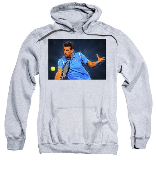 Novak Djokovic Sweatshirt by Semih Yurdabak