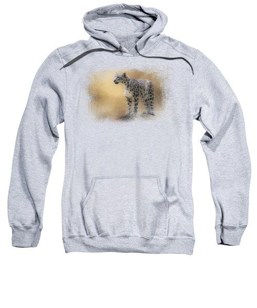Snow Leopard Sweatshirt by Jai Johnson