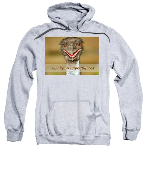 You Make Me Smile Sweatshirt by Carolyn Marshall