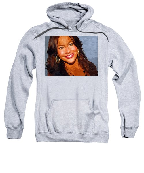 Sofia Vergara Art Print Sweatshirt by Best Actors