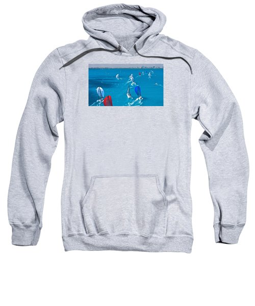 Miami Skyline Regatta Sweatshirt by Steven Lapkin