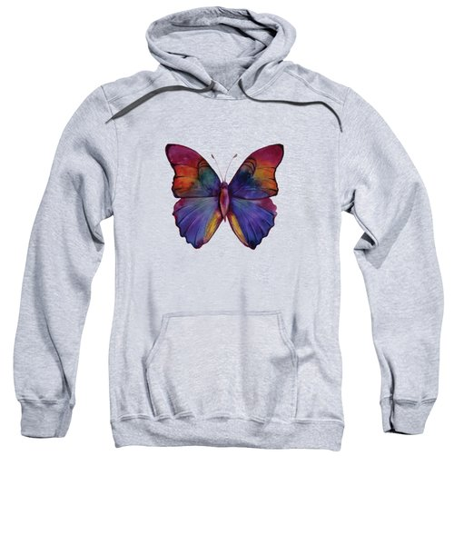 13 Narcissus Butterfly Sweatshirt by Amy Kirkpatrick