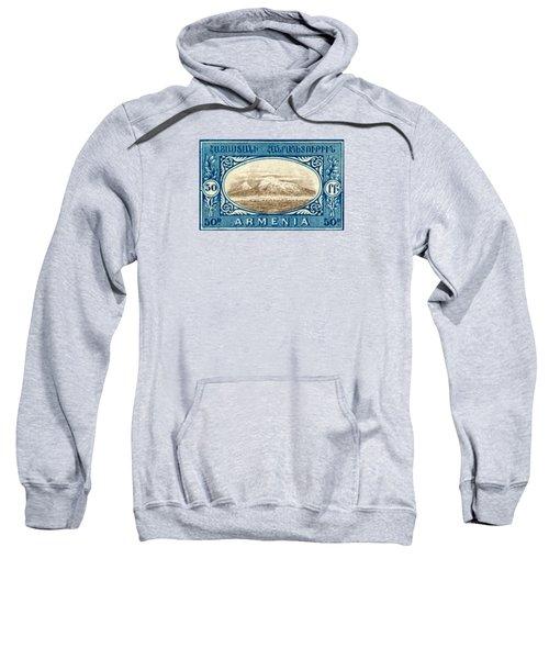 1920 Armenian Mount Ararat Stamp Sweatshirt by Historic Image