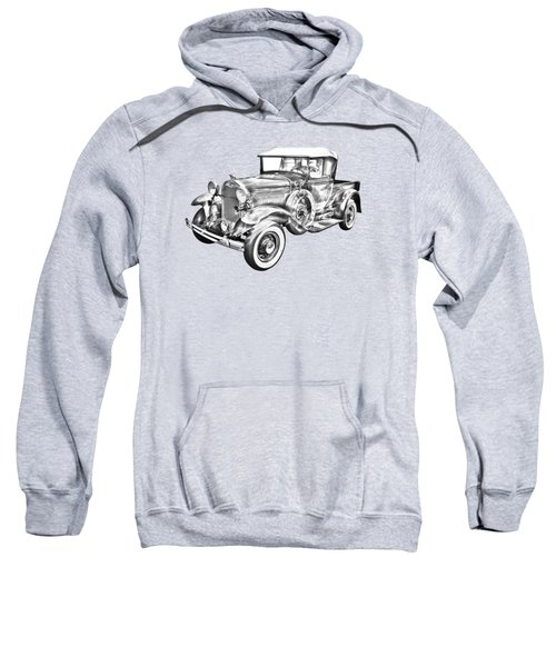 1930 Ford Model A Pickup Truck Illustration Sweatshirt by Keith Webber Jr