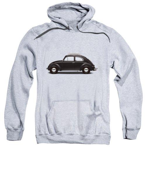 1953 Volkswagen Sedan - Black Sweatshirt by Ed Jackson