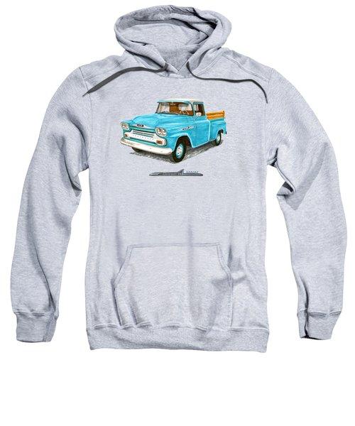 1958 Chevrolet Apache Pick Up Sweatshirt by Jack Pumphrey