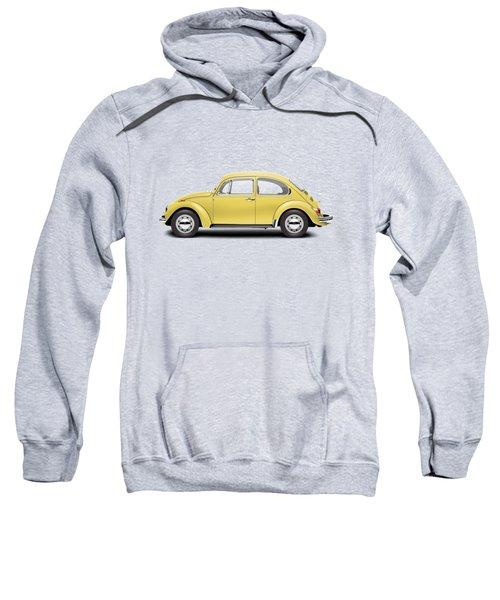 1972 Volkswagen Beetle - Saturn Yellow Sweatshirt by Ed Jackson