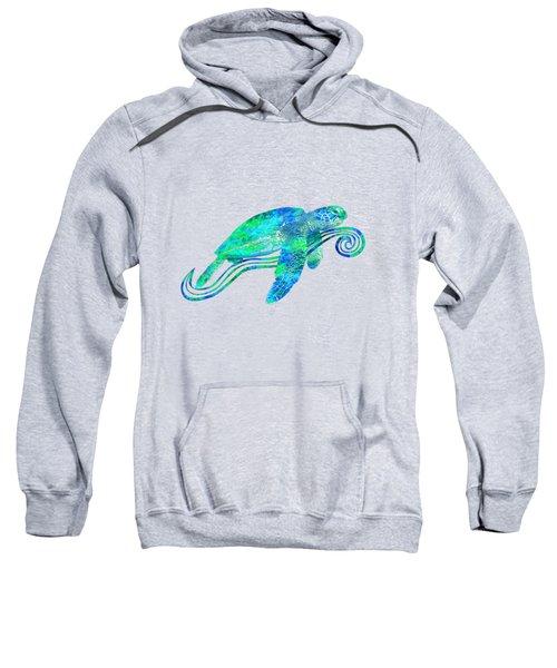 Sea Turtle Graphic Sweatshirt by Chris MacDonald
