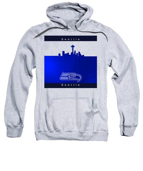 Seattle Seahawks Skyline Sweatshirt by Alberto RuiZ