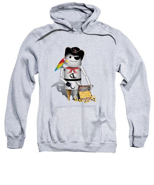 Robo-x9 The Pirate Sweatshirt by Gravityx9  Designs