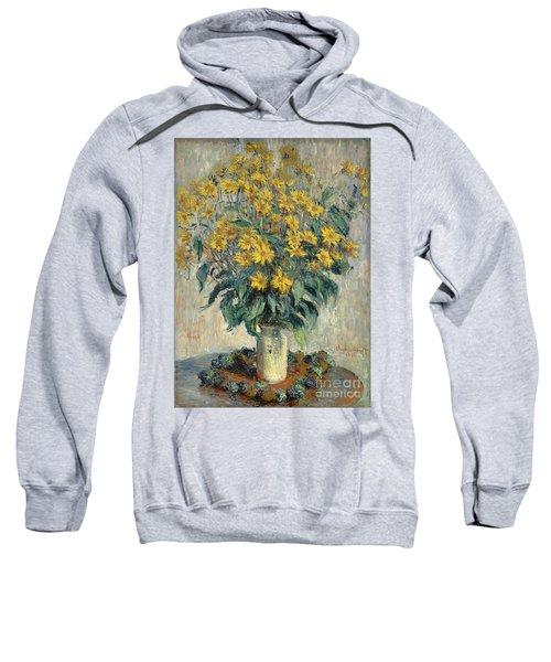 Jerusalem Artichoke Flowers Sweatshirt by Claude Monet