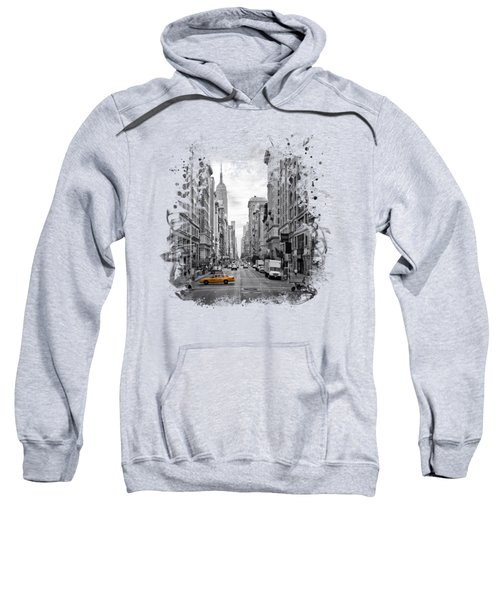 New York City 5th Avenue Sweatshirt by Melanie Viola