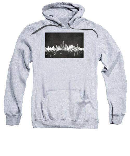 Dallas Texas Skyline Sweatshirt by Michael Tompsett