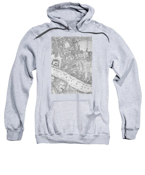 A Map Of The Tower Of London Sweatshirt by John Rocque